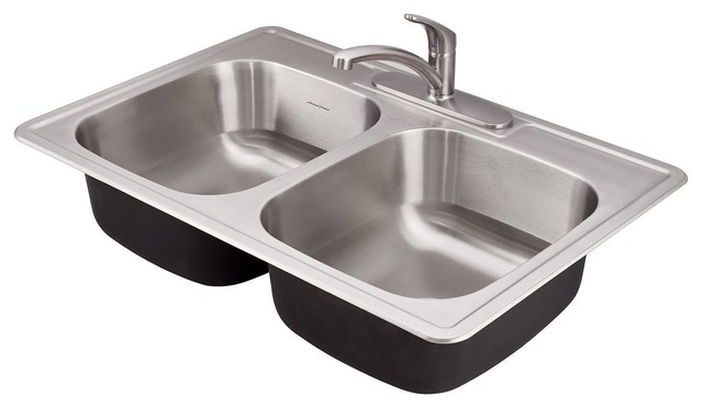 American Standard 22db 6332283c Colony 33 Double Basin Stainless Steel Kitchen