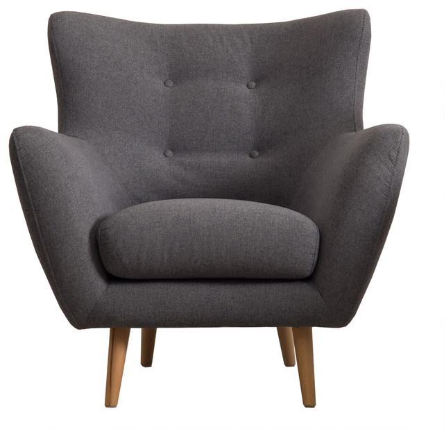 Cooper Retro-Scandinavian Dark Grey Armchair
