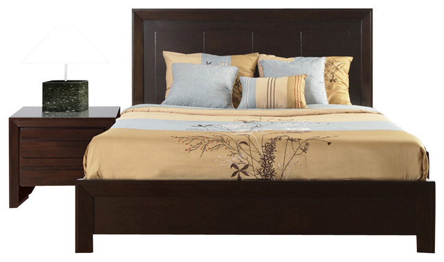 Charming Modus Element 2 Piece Platform Bedroom Set In Chocolate Brown Bedroom  Furniture Sets