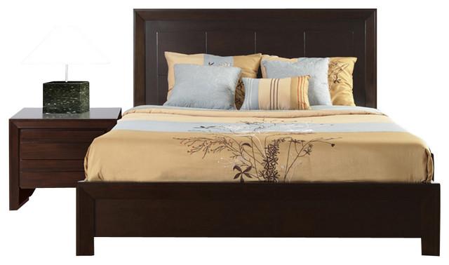 chocolate brown bedroom furniture inspiration dark wood modus element 2piece platform bedroom set in chocolate brown