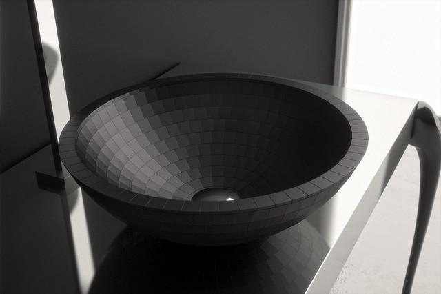 Black Modern Vessel Sink Designer Bathroom Sink Made In