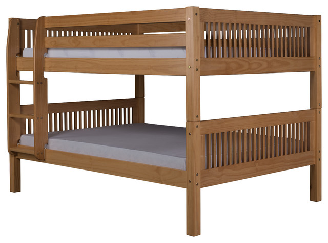 Camaflexi full over full low bunk bed mission headboard for Craftsman bed