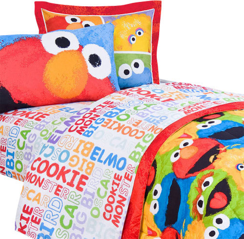Sesame Street Chalk 3 Pieces Elmo Twin Bedding Sheet Set Contemporary Kids  Bedding