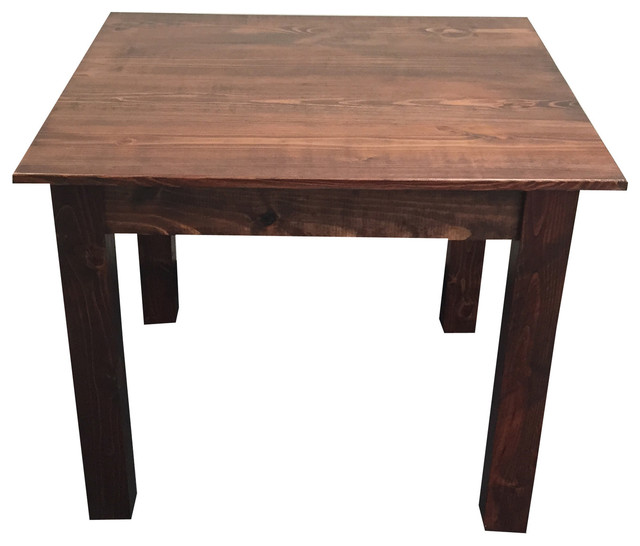 Perfect Smooth Top Mahogany Farm Table, 42 Inches Farmhouse Dining Tables
