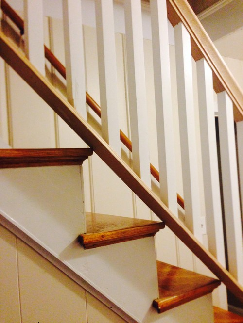 It Is A One Piece Railing Which Can Be Removed Easily In Case We Need To  Move The Furniture. The Staircase Itself Is Very Narrow Which Prompted Him  To Put ...