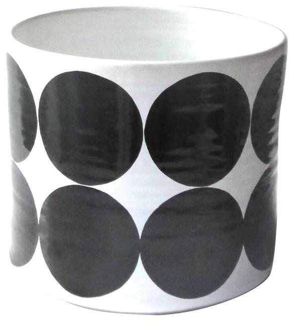 Large Spots Bowl, Black
