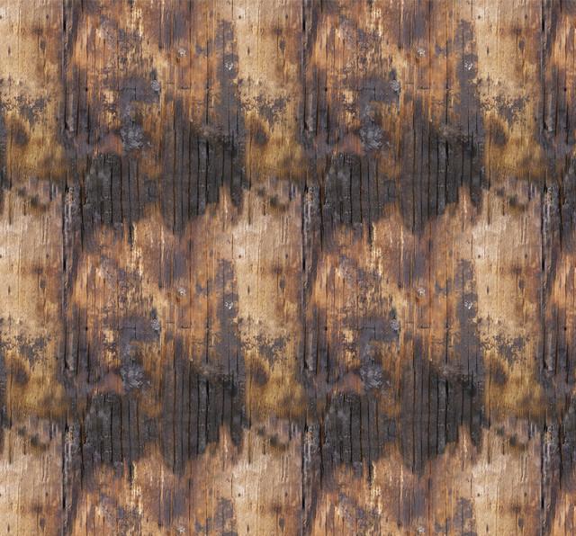 Removable Wallpaper Singed Wood Peel Stick Self Adhesive 24x108