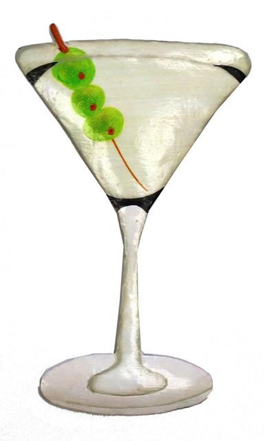 Tropical Vodka Martini Drink Haitian Metal Wall Decor M5