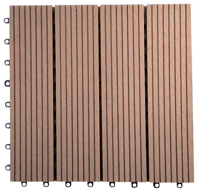 12 X12 Metawood Deck Tiles Composite Ipe Snap To Install Contemporary And Planks By Vifah