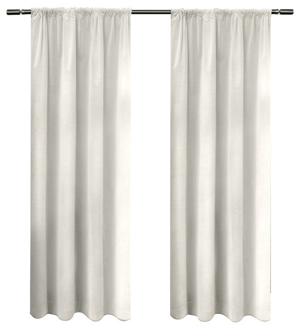 Cotton Velvet With Blackout Lining Rod Pocket Winter 54 X 84
