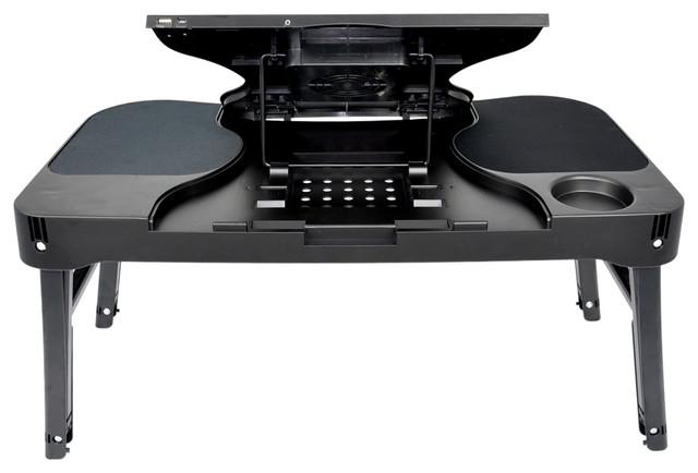 Multifunctional Laptop Table   Folding Portable Laptop Desk Black