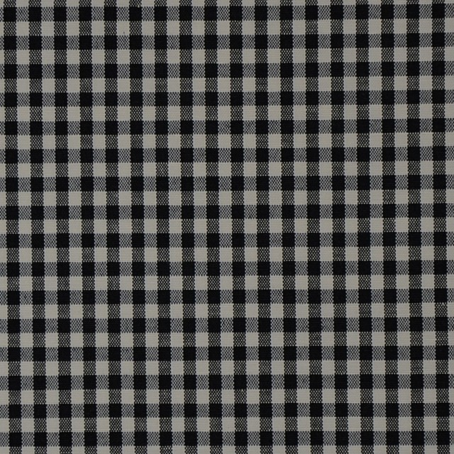 Black White Plaid Woven Upholstery Fabric Rustic Upholstery