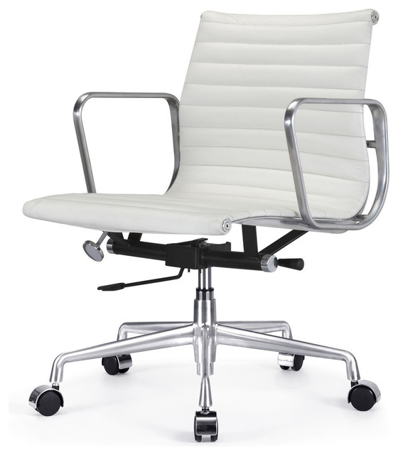 ribbed back office chair leather - contemporary - office chairs