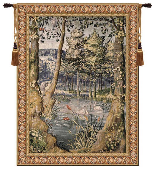 Forest European Wall Tapestry - Traditional - Tapestries ...
