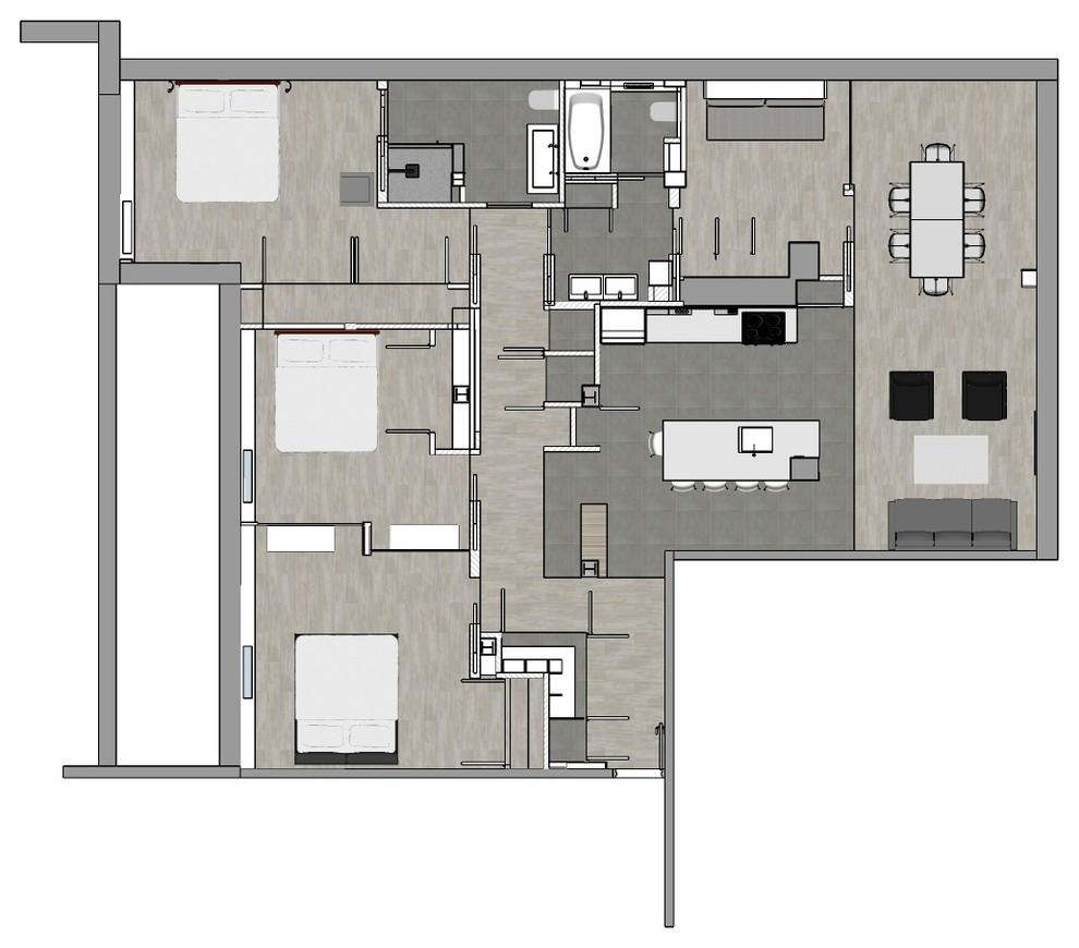 Apartment Gut Renovation floor plan - on the BOARDS