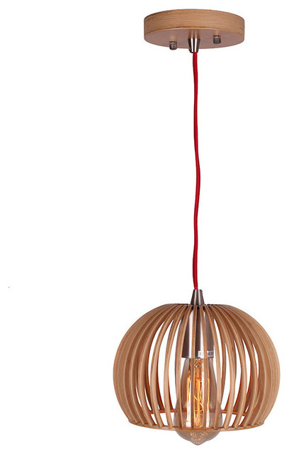 Modern Bentwood Bowl Shape Wooden Pendant Light  sc 1 st  Houzz & Modern Bentwood Bowl Shape Wooden Pendant Light - Scandinavian ...