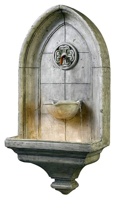 Gothic Style Wall Fountain - Contemporary - Indoor Fountains - by ...