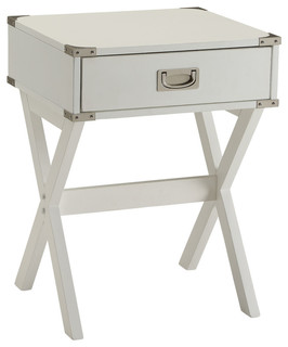 Babs End Table, White