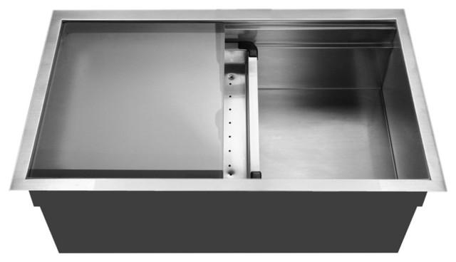 Houzer NVS-5200 Novus Series Dual Level Stainless Steel Large Single ...