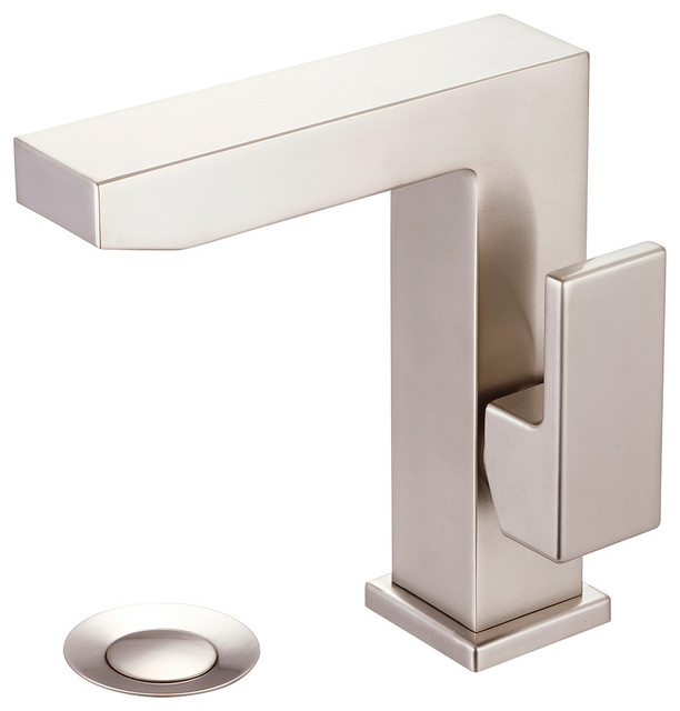 Single Handle Lavatory Faucet, Pvd Brushed Nickel