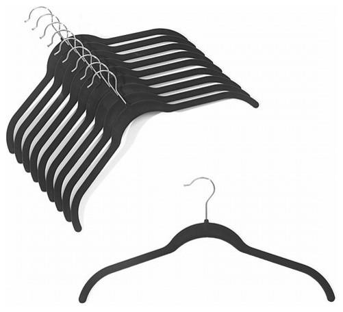 Slim-Line Black Shirt Hanger, Set Of 20.