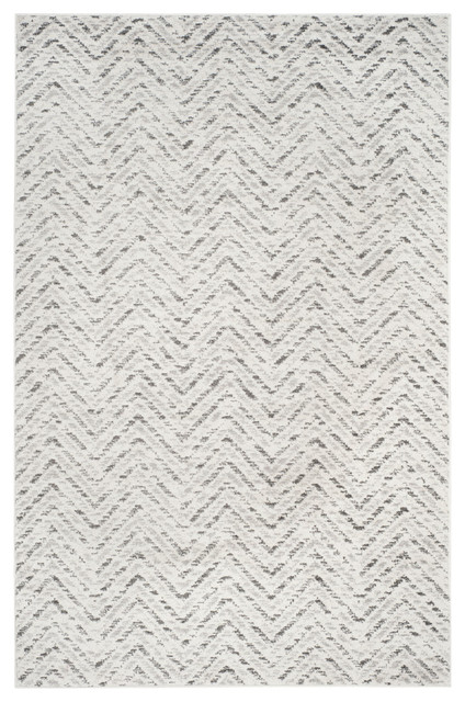 Vivian Area Rug Ivory Charcoal 2 6 Quot X12 Contemporary