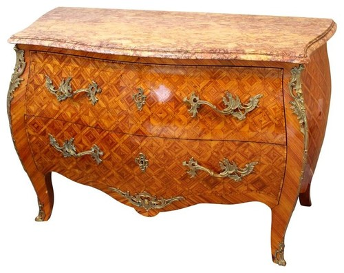 Consigned Louis XV Style Bombe Commode