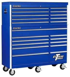 Wheeled Tool Chest Cabinet w 11 Drawers & Blue Finish - Contemporary - Garage And Tool Storage ...