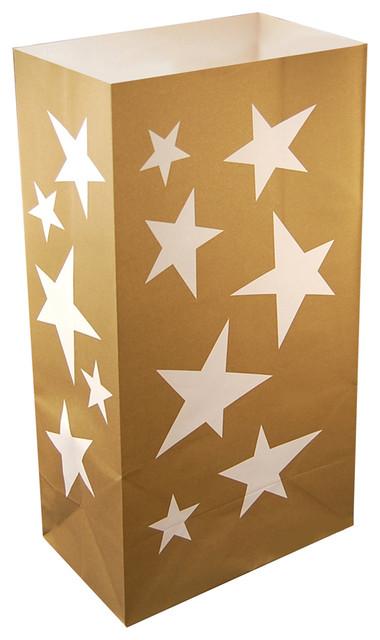 Luminaria Bags, Star, Set Of 24.