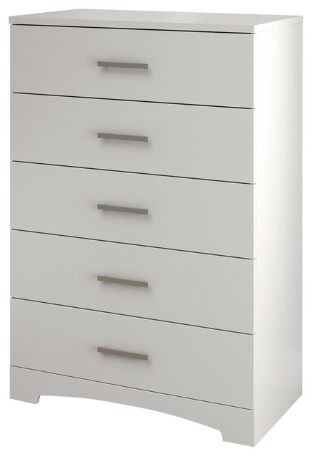 South Shore Gramercy 5-Drawer Chest, Pure White. -1