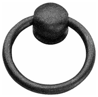 Cabinet Ring Pulls Mission Black Wrought Iron - Rustic - Home Improvement - by Renovator's Supply