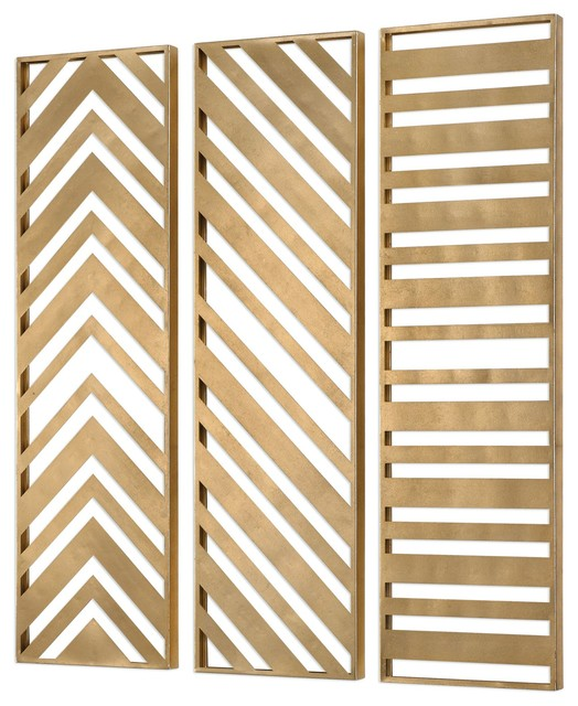 Uttermost Gold Wall Panel Zahara Metal Contemporary Metal Wall Art By Gwg Outlet