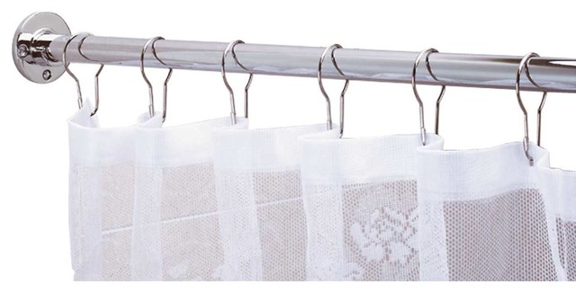 Shower Curtain Rod Bright Chrome 6u0027 Long Transitional Showerheads And Body