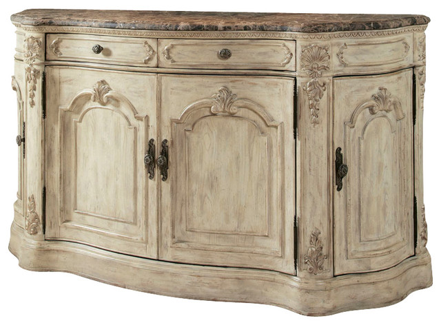 American Drew Jessica McClintock Boutique Buffet With Marble Top Traditional Buffets And Sideboards