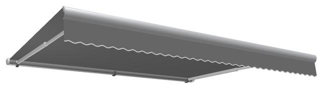 10&x27; Galveston Semi-Cassette Right Motor/remote Retractable Awning, Gray.