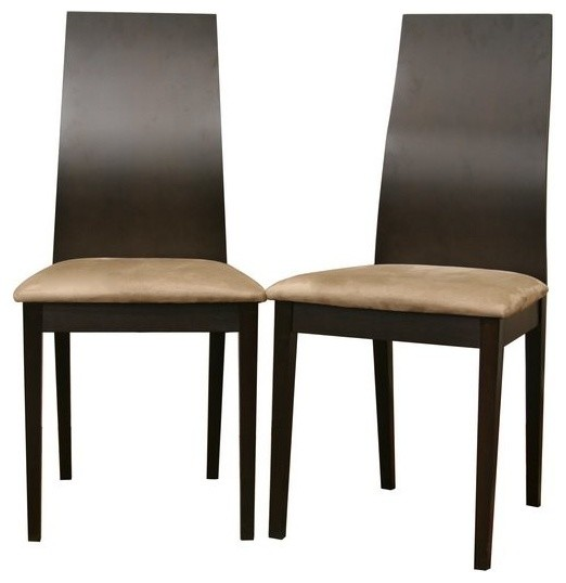 baxton studio calhoun dark brown modern dining chair