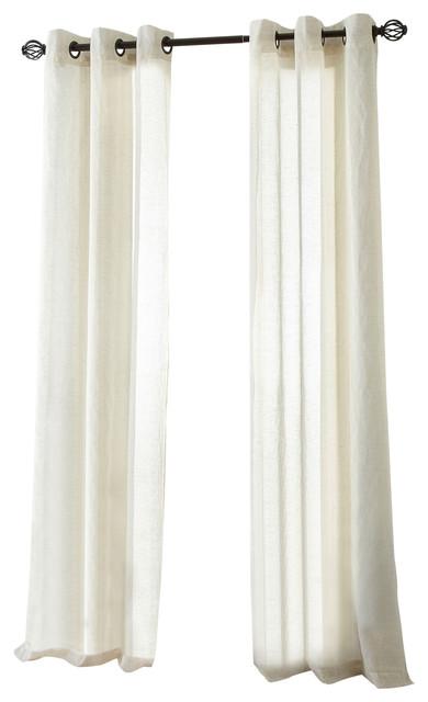 Linden Grommet Sheer Curtain Panel Pair