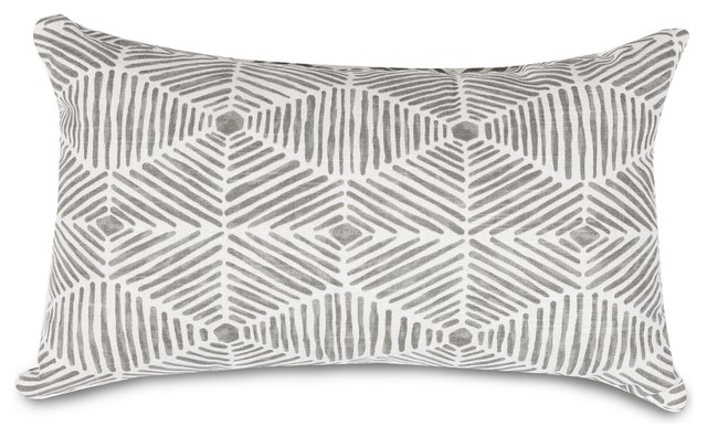 Charlie Gray Small Pillow 12x20.