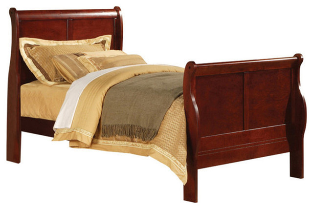 Louis Philippe Iii Bed, Black, Cherry, Full.