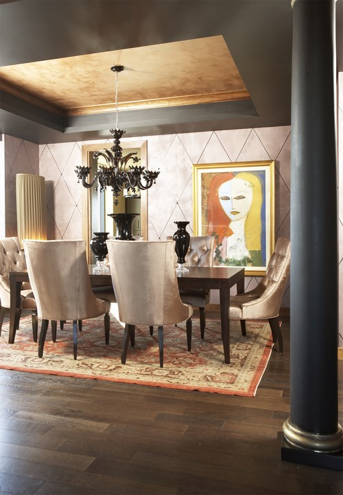 Frugal with a flourish velvet furniture a do or don t for Eclectic dining room designs