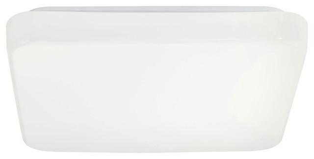 1x12w Led Square Ceiling Light, White Finish.