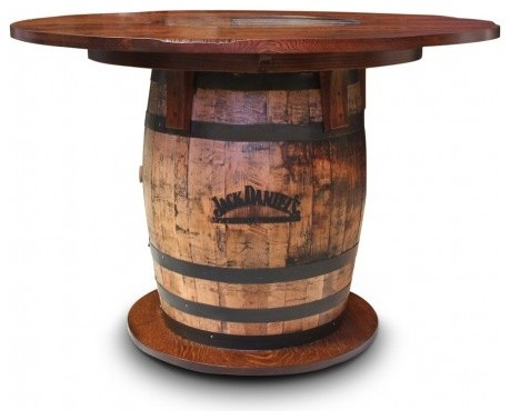 Gallery Furniture USA Whiskey Barrel Pub Table - Rustic - Dining ...