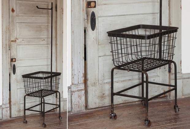 Vintage-Inspired Laundry Basket