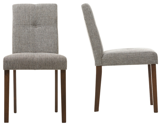 Baxton Studio Elsa quotGravelquot Linen Contemporary Dining  : dining chairs from www.houzz.com size 640 x 502 jpeg 51kB