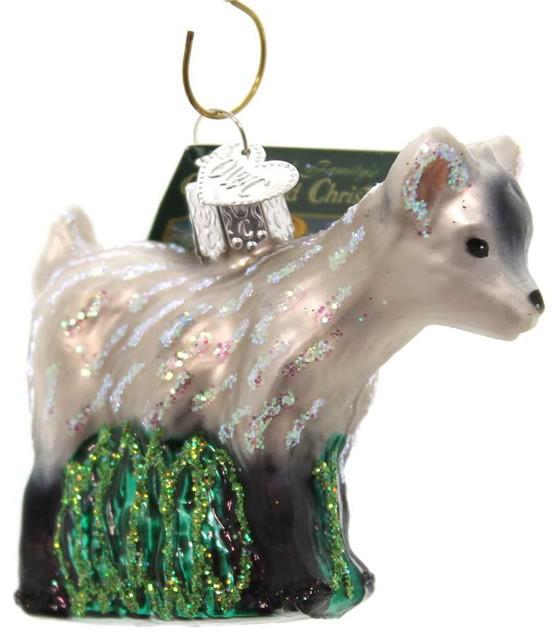 Goat Christmas Ornament.Old World Christmas Pygmy Goat Glass Friendly Ornament 12285