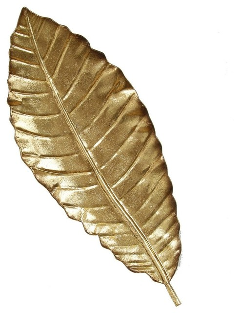 Gold Elegant Leaf Wall Decor Contemporary Metal Wall Art By Virventures
