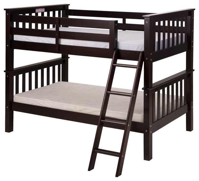 Santa Fe Mission Low Bunk Bed Twin Over Twin Angle Ladder