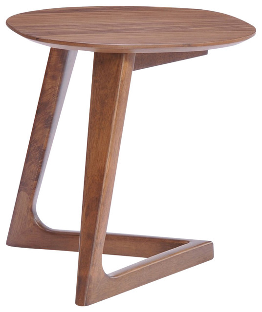 Modrest Jett End Table, Walnut Transitional Side Tables And End