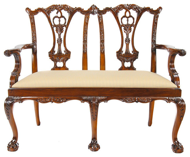 Chippendale Two Seat Chair Traditional Armchairs And Accent Chairs By Niagara Furniture