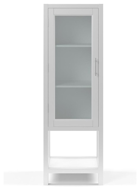 Kendall Bathroom Tall Storage Cabinet Modern Cabinets By Houzz